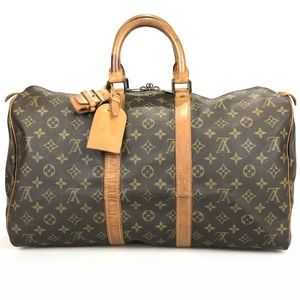 LOUIS VUITTON Monogram Keepall 45 Duffel Bag